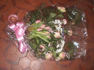 Bouquet gerbe ton rose